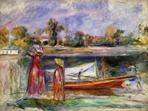 Young Girls in Argenteuil; Jeune Filles a Argenteuil, C. 1896 by Pierre-Auguste Renoir