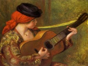 Young Spanish Woman with a Guitar, 1898 by Pierre-Auguste Renoir