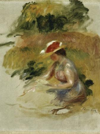 Young Woman Reading by Pierre-Auguste Renoir