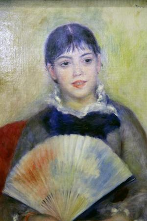 Young Woman with a Fan, 1880 by Pierre-Auguste Renoir