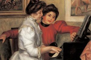 Yvonne and Christine Lerolle at the Piano by Pierre-Auguste Renoir