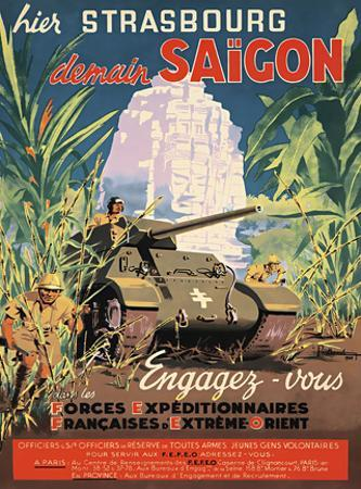 Hier Strasbourg demain Saigon / Yesterday Strasbourg tomorrow Saigon by Pierre Baudouin