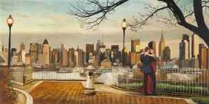 Lovers in New York by Pierre Benson