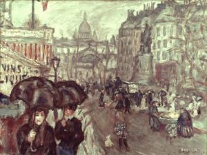 Bonnard: Place Clichy, C1895 by Pierre Bonnard