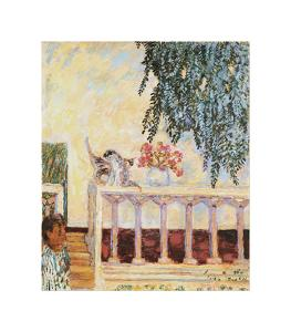 Cats on the Railing by Pierre Bonnard