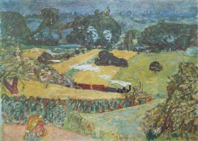 Landscape with Goods Train and Barges