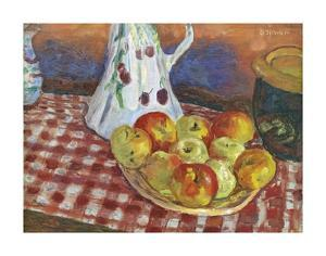 Les Pommes Rouges Et Jaunes by Pierre Bonnard