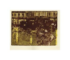Street at Evening in the Rain by Pierre Bonnard