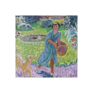 Young Girl Playing with her Dog by Pierre Bonnard
