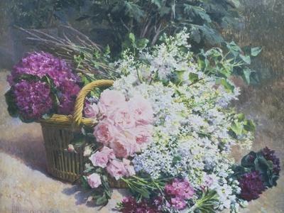Basket of Romantic Flowers