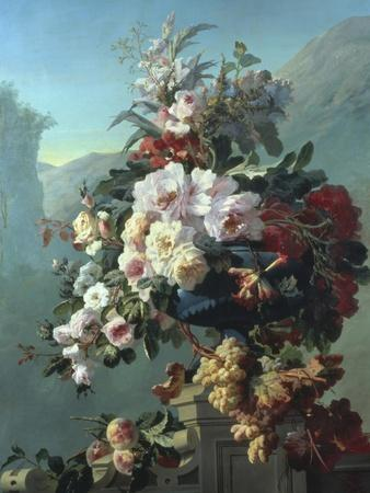 Still Life of Flowers on a Terrace