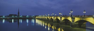 Pierre Bridge Bordeaux France--Photographic Print