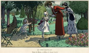 Greeting their Mother 1914 by Pierre Brissaud