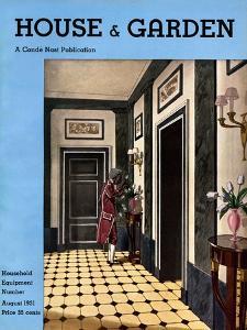 House & Garden Cover - August 1931 by Pierre Brissaud
