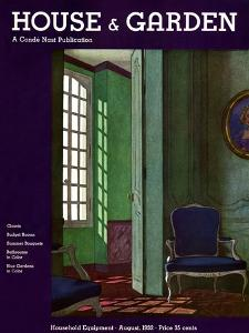 House & Garden Cover - August 1932 by Pierre Brissaud