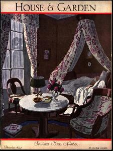 House & Garden Cover - December 1924 by Pierre Brissaud