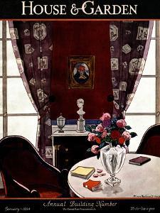 House & Garden Cover - January 1924 by Pierre Brissaud