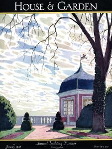 House & Garden Cover - January 1926 by Pierre Brissaud