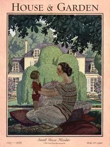 House & Garden Cover - July 1928 by Pierre Brissaud