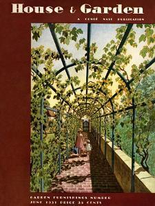House & Garden Cover - June 1931 by Pierre Brissaud