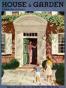 House & Garden Cover - November 1933 by Pierre Brissaud