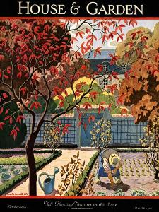 House & Garden Cover - October 1926 by Pierre Brissaud