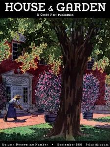 House & Garden Cover - September 1931 by Pierre Brissaud