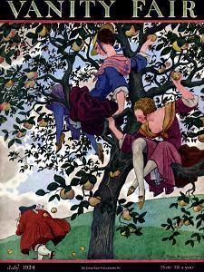 Vanity Fair Cover - July 1924 by Pierre Brissaud