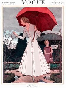Vogue Cover - April 1922 by Pierre Brissaud