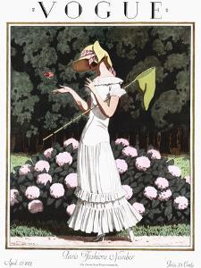 Vogue Cover - April 1924 by Pierre Brissaud