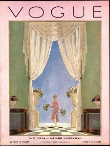 Vogue Cover - August 1928 by Pierre Brissaud