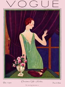 Vogue Cover - December 1925 by Pierre Brissaud