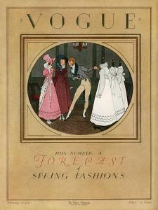 Vogue Cover - February 1923 by Pierre Brissaud