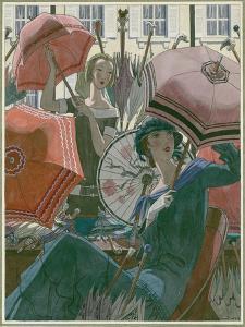 Vogue - March 1924 by Pierre Brissaud