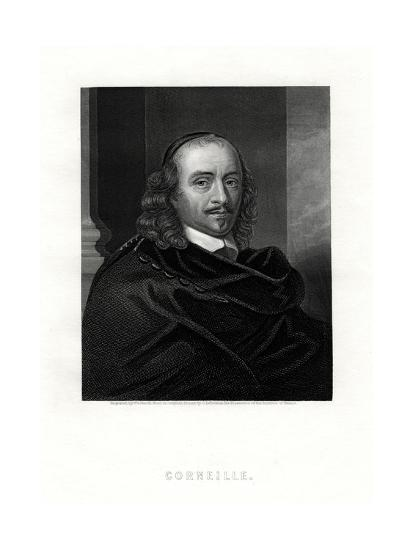Pierre Corneille, French Tragedian and Dramatist, 19th Century- Woolnoth-Giclee Print