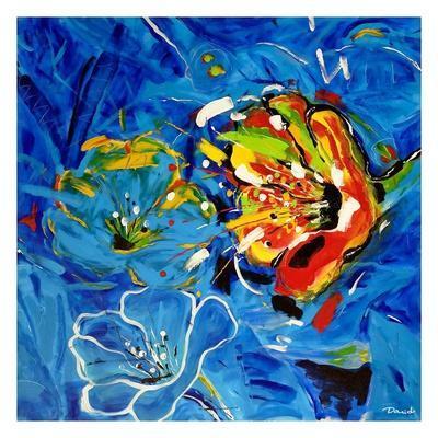 Étude Fleurs bleues