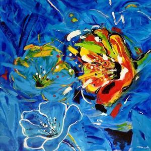 Étude Fleurs bleues by Pierre David