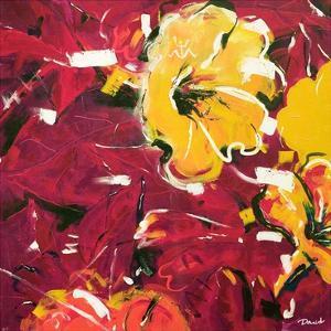 Étude Fleurs rouges by Pierre David