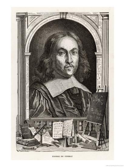 Pierre De Fermat French Mathematician-Louis Figuier-Giclee Print