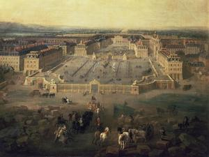 Chateau of Versailles, France, seen from the Place d'Armes, 1722 by Pierre-Denis Martin