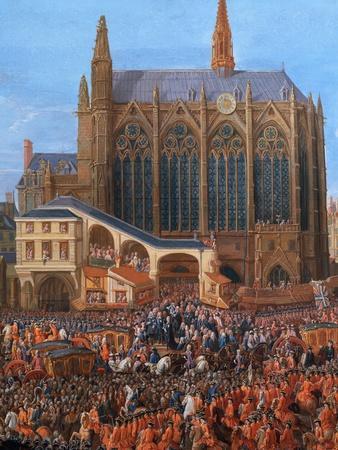 King Louis XV at the Parliament 1715 (Sainte Chapelle)