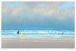 Couple sur la plage by Pierre Doutreleau