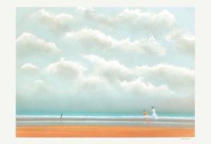 Promenade Sur La Plage by Pierre Doutreleau