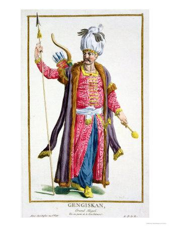 Genghis Khan from Receuil Des Estampes, Representant Les Rangs Et Les Dignites