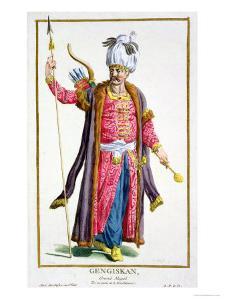 Genghis Khan from Receuil Des Estampes, Representant Les Rangs Et Les Dignites by Pierre Duflos
