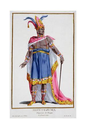 Montezuma, last Emperor of the Aztecs, 16th century (1780)