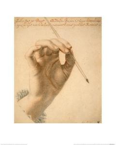 Right Hand of Artemisia Gentileschi Holding a Brush by Pierre Dumonstier II