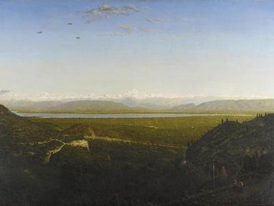 View of Mont Blanc, See from La Faucille, C.1865