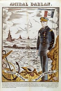 Admiral Francois Darlan, Commander of the French Navy, 1940 by Pierre Falke