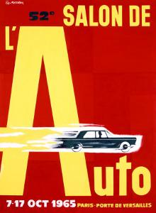 52nd Salon de l'Auto, 1965 by Pierre Fix-Masseau